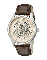 Stuhrling Original Men's 992.03 Legacy Analog Display Automatic Self Wind Brown Watch