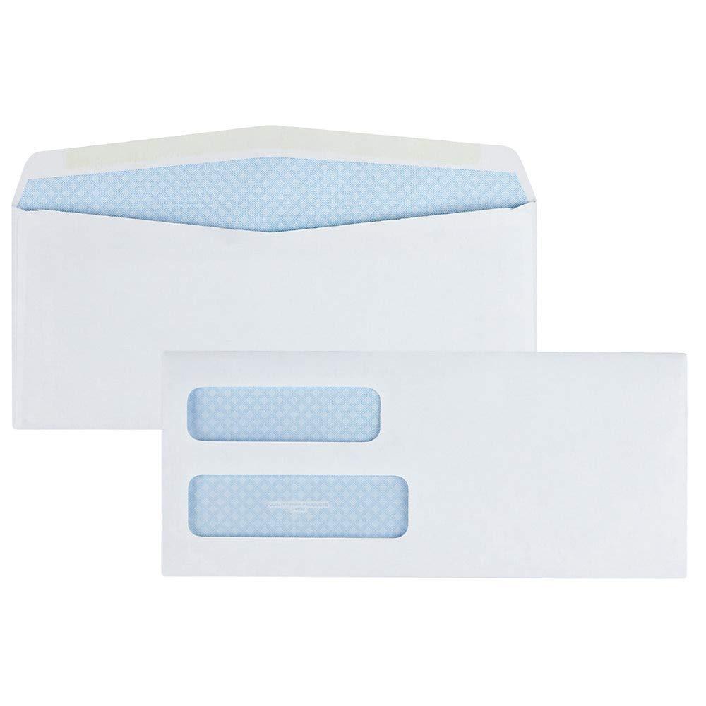 Quality Park #10 Double Window Envelope, Regular Gum, 500 Envelopes (24550) by Quality Park
