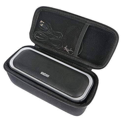 Khanka Hard Travel Case Replacement for DOSS SoundBox Pro Portable Wireless Bluetooth Speaker V4.2 (Black)