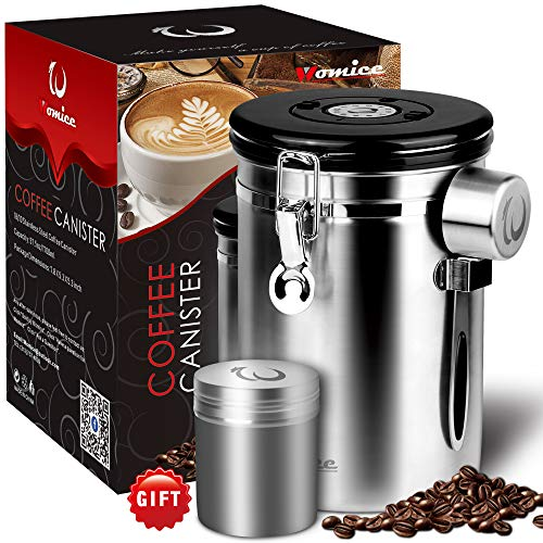 Large Coffee Bean Container with Scoop, Coffee