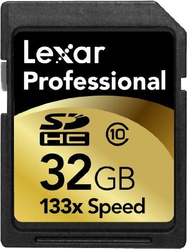 - Lexar 32GB Professional 133x SDHC Memory Card (LSD32GCRBNA133)