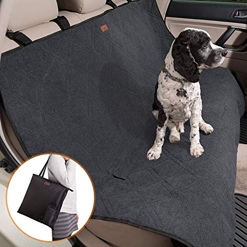 (Friends Forever Premium Dog Trunk Cover, Dog Hammock for Back Seat - Reversible Dog Seat Cover for Back Seat with Seat Anchor, Water-Proof & Non-Slip, Black)