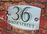 House Sign Modern Glass Effect Acrylic Door Number Name Road Plate Plaque by K Smart Sign Ltd - A Multiple Award Winning UK Company