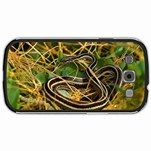 New Style Customized Back Cover Case For Samsung Galaxy S3 Hardshell Case, Black Back Cover Design Eastern Ribbon Snake Personalized Unique Case For Samsung S3