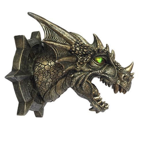 Dragon Dungeon Wall Plaque With LED Eyes (Plaque Wall Dragon)