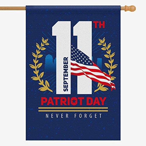 InterestPrint September 11 Polyester Garden Flag Outdoor Ban