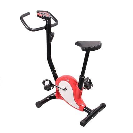 Homgrace Bicicleta Estática Plegable para Fitness con Magnético, MAX del Usuario hasta 100 kg Rojo