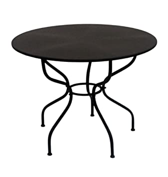 Table de jardin ronde en fer au look milanati marassini : ø ...