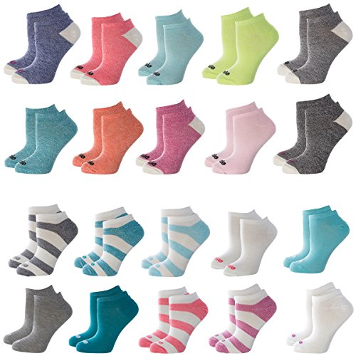 Kensie (10 Pairs) Lightweight No Show Socks For Women 9-11 Cute Ladies Ankle Socks Colors Shoe 4-10