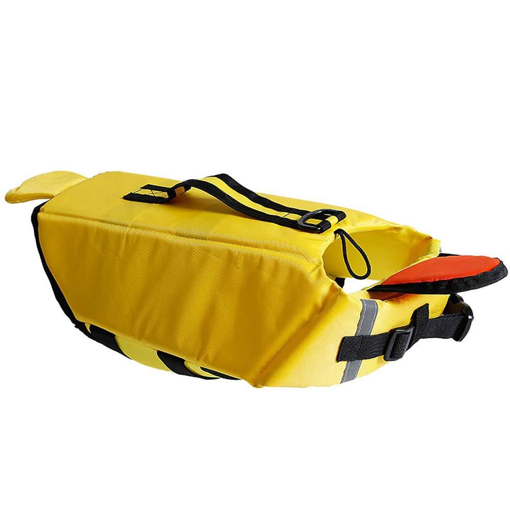 Yellow XL Yellow XL Dog Life Jacket Swimming Vest with Reflective Strips Adjustable Belt,Yellow,XL