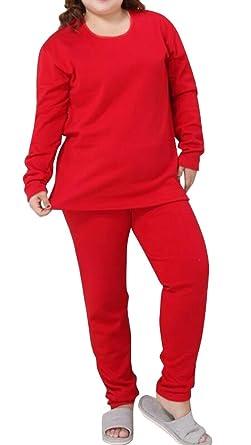 KLJR-Women Winter Thick Fleece Lined Thermal Underwear Long Johns Set one US 2XL
