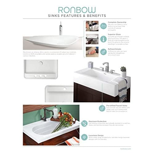 well-wreapped RONBOW Shoji 31 inch Bathroom Vanity Set in Vintage Walnut, Single Bathroom Vanity with Top and Backsplash in Black, Bathroom Cabinet with Lattice Panels, White Ceramic Vessel Sink 040430-F07_Kit_1