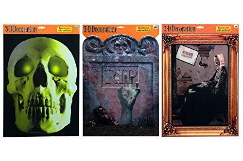 Halloween Decor Wall Art - Set of 3 - 16.5