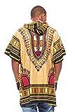 Mens-African-Swag-Dashiki-Loose-Traditional-Long-Hoodie-Top-W-Hood