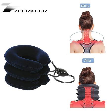 Zeerkeer Collar de la Horma del Cuello Hinchable & Ajustable del ...