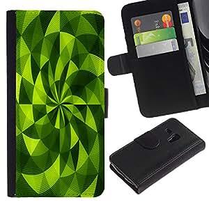 For Samsung Galaxy S3 MINI NOT REGULAR! I8190 I8190N,S-type® Polygon Fan Vibrant Abstract Pattern - Dibujo PU billetera de cuero Funda Case Caso de la piel de la bolsa protectora