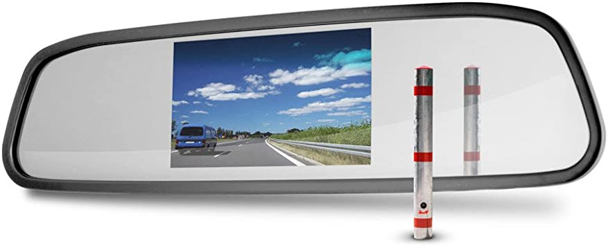 Carmedien Rückspiegel Mit 4 3 Monitor Tft Display Bildschirm Für Rückfahrkamera Rückspiegelmonitor 12v Auto