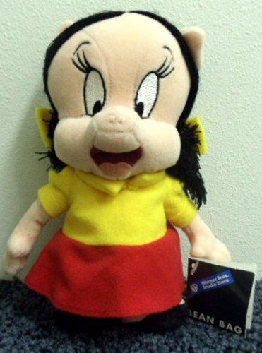 Warner Brothers Retired Porky Pig Girlfriend Petunia Pig 8 Inch Plush Bean Bag Doll