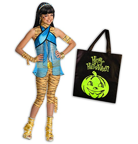 Monster High Cleo De Nile Costumes (Monster High Cleo de Nile Deluxe Child Costume Kit - M(8/10))