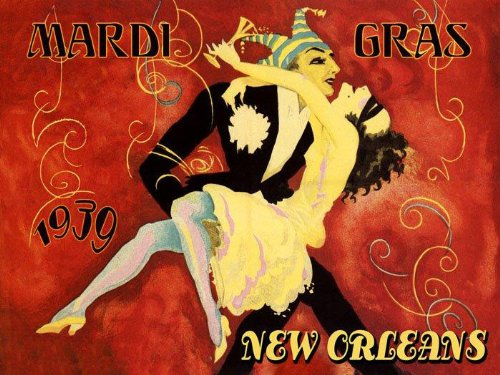 1939 Mardi Gras Carnival Season New Orle - Mardi Gras Art Shopping Results