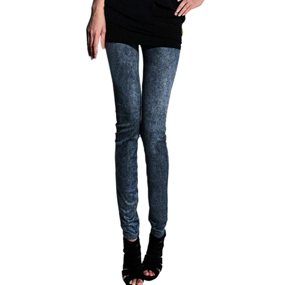 49f4564f84d Amazon.com  SERYU Women Denim Pants Pocket Slim Leggings Fitness Plus Size  Leggins Length Jeans  Clothing