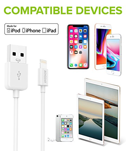 Boxgear Apple Charger for iPhone X, 8, 8 Plus, 7, 7 Plus, 6s, 6s Plus, 6, 6 Plus, SE, 5s, 5c, 5, iPad mini, iPad Air, iPad Pro, iPod Cable Kit by Boxgear - (Wall Charger + Car Charger + 2 Cable) by Boxgear (Image #4)