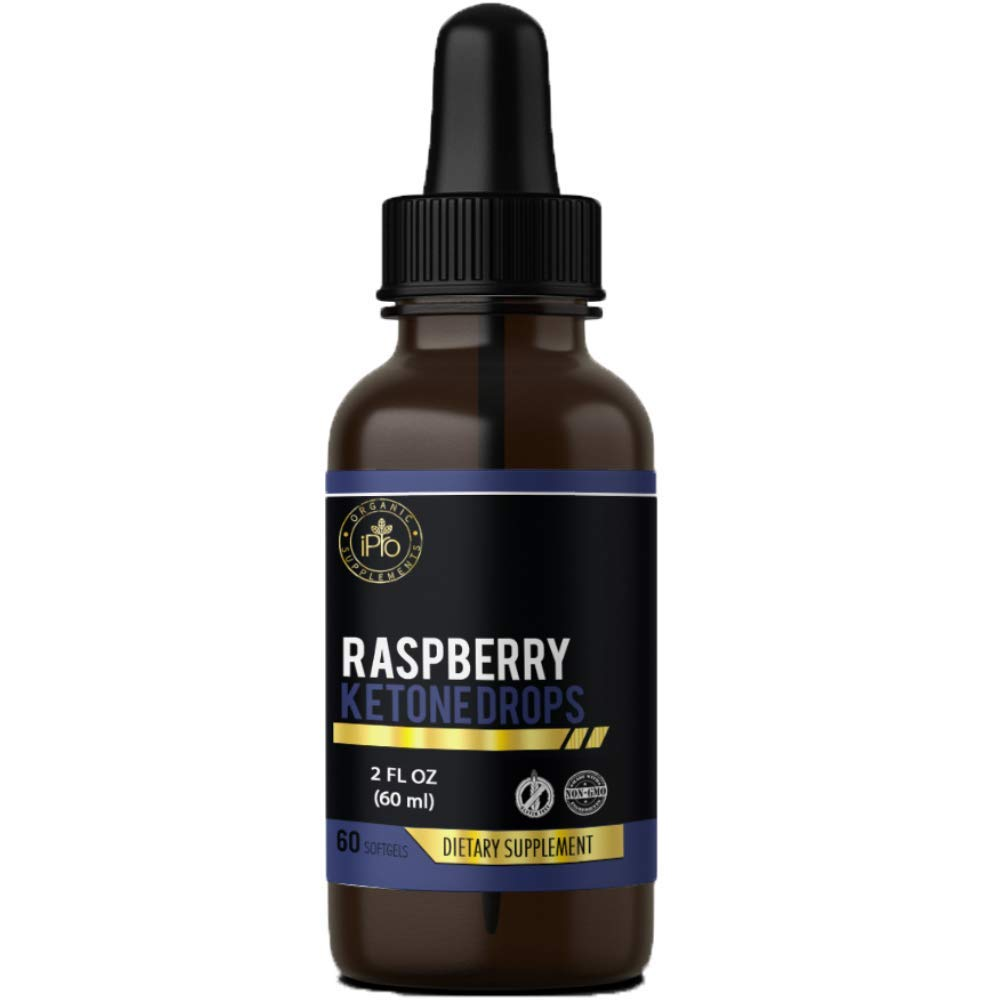 iPro Organic Supplements Raspberry Ketone Drops & African Mango 2 oz Natural Dietary Liquid Extract for Rapid Weight Loss Burn Fat Healthy Appetite Suppressant Heart Health Metabolism Energy Booster