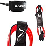 Dorsal Premium ProComp Surfboard Lightweight, Kink-free, Surf Leash - Red 6 FT / Red