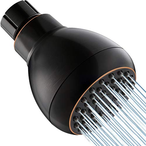Toolson High Pressure Shower Head, Anti-Clogging Nozzle Fixed Showerhead, Excellent Shower Experience Even at Low Pressure and Water Flow, (Oil-Rubbed Bronze)