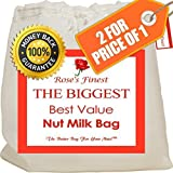 Finest Nut Milk Bag - 2 Pack Large (12' x 12') & Medium (12' x...