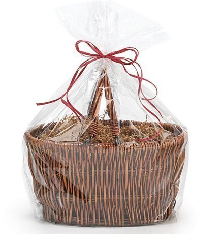CakeSupplyShop Bundleofbeauty Extra Large Cellophane Bags Gift Basket - 30 x 40 Inch - 10 Pack - Clear
