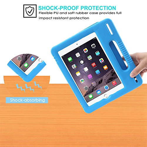 Pad Mini 1/2/3/4 Kids Case Tablet Smart Full Protective Cover Kickstand Light Weight Shockproof with Portable Handle for Toddler and Adults by JUOIFIP (Image #1)