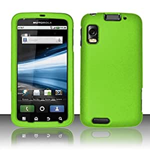 For Motorola Atrix 4G MB860 Rubberized Hard Snap-On Case Cover - Neon Green