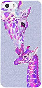 Hungo Iphone 5 Case Giraffe Animal Hot Pink Cute Giraffe Parent And Kid Animal