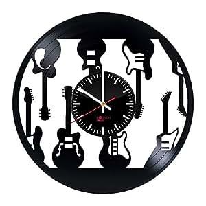 Electric Guitars Design Vinyl Record Wall Clock Get Unique Bedroom Or Living Room