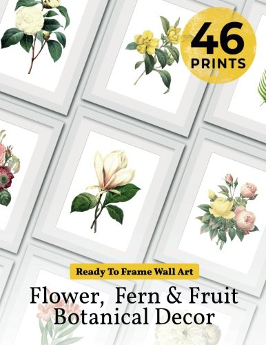 Adams Art Print - Ready to Frame Wall Art: Flower, Fern & Fruit Botanical Decor