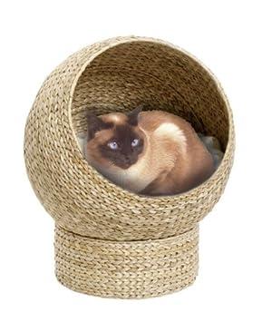 Karlie 34895 Cama Cueva para Gatos Hoja de Banana, Beige: Amazon.es: Productos para mascotas