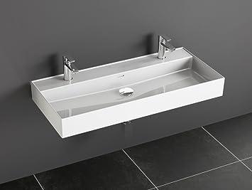 Aqua Bagno Loft Air Keramik Doppelwaschtisch 100cm Doppel ...
