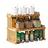 Wooden Spice Rack, Kitchen Counter Storage Rack for Seasoning Tank Storage 4517.753cm