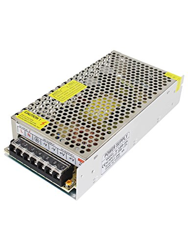 Aiposen 110V/220V AC to DC 24V 5A 120W Switch Power Supply Driver,Power Transformer for CCTV camera/ Security System/ LED Strip Light/Radio/Computer Project(24V 5A)