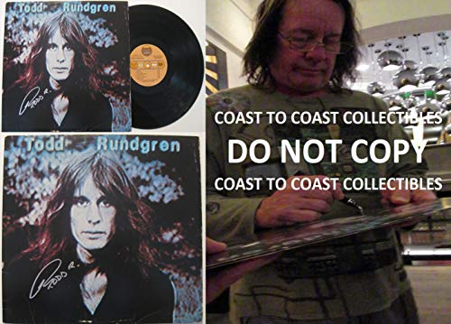 Todd Rundgren signed, autographed, Hermit of Mink Hollow Album, Vinyl Record, COA with the Proof Photo will be included. STAR