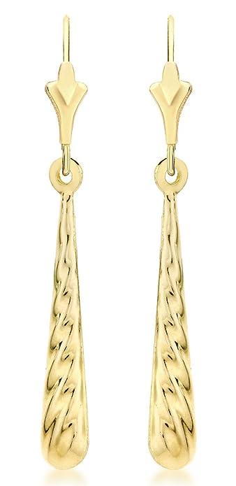 Gemini Women's Jewelry 18K Gold White Filled Long Dangle Drop Earring Gm009 , Size: 4 inches