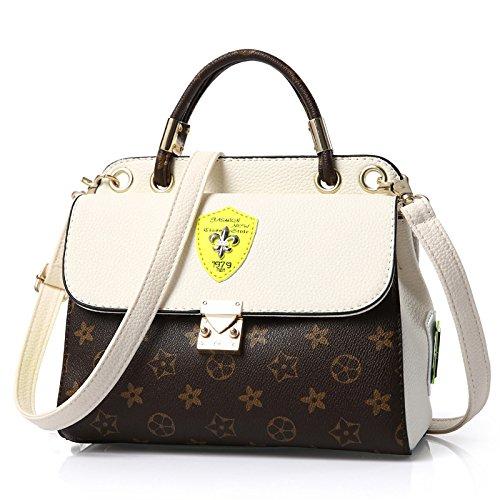 VINICIO Women's Elegant Lovely Joker Exquisite PU Leather Handbag Shoulder Bag(Beige) (Where To Find Burlap Bags)