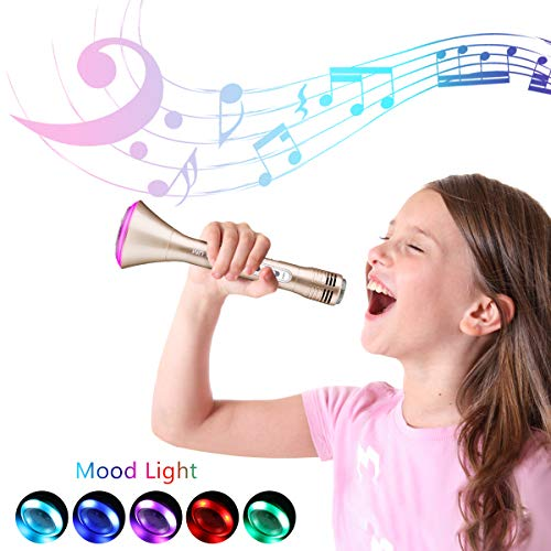 NASUM Wireless Karaoke Microphone for Kids, Best Birthday Gifts for Girls and Boys, Bluetooth Karaoke Machine, Top Present Toys for Kids 3 4 5 6 7 8 9 Years Old