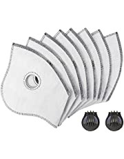 Axsyon Filter & Valve Replacements for Dust Mask- 8 Pack of Filters, 2 Valves …