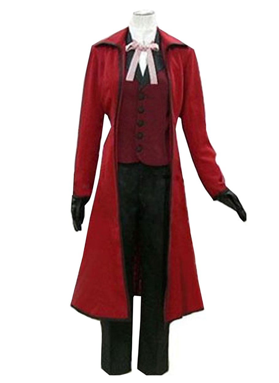 Cosnew Halloween Anime Grell Sutcliff Jacket+Glass Outfits Cosplay Costume-Made by Cosnew
