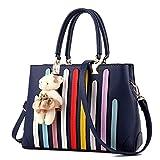 Chic-Dona Shoulder Female Bag De Leather Bags Handbags Women Bags Set For Girls Obag Purses And Handbags Blue