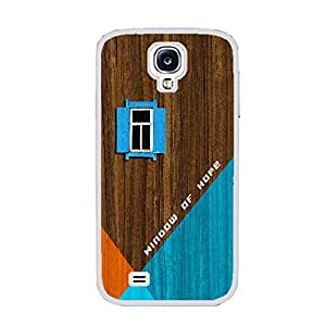 Unique Geometric Design Hard Protective Skin Case Cover for Samsung Galaxy S4 I9500 ,Wood Pattern Print Cell Phone Case (guys white ju5236)