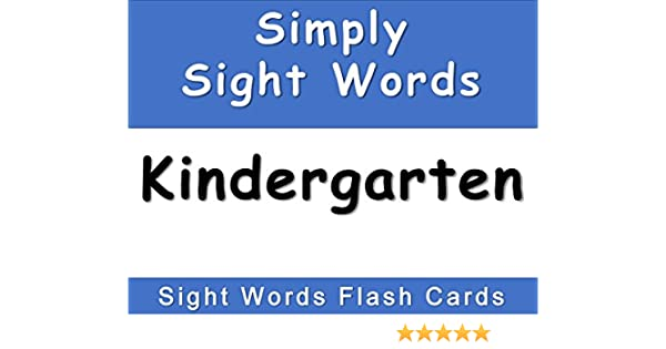 Amazon.com: Simply Sight Words - Kindergarten: Sight Words Flash ...