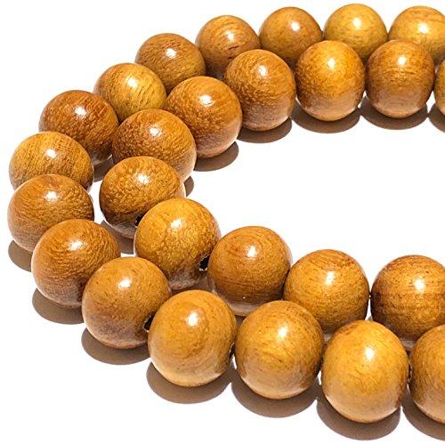 [ABCgems] Rare Jackfruit Tree Nangka Hardwood (Tree of Delicious Jackfruit) Tiny 6mm Round Wood Beads for Beading & Jewelry -
